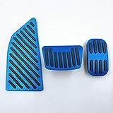 GXZYY Cubierta de Pedal de Freno de Embrague de Placa de Pedal de Acelerador de Coche de Goma de Aluminio, para Toyota Corolla E210 12th 2019 2020-3pcs-Blue