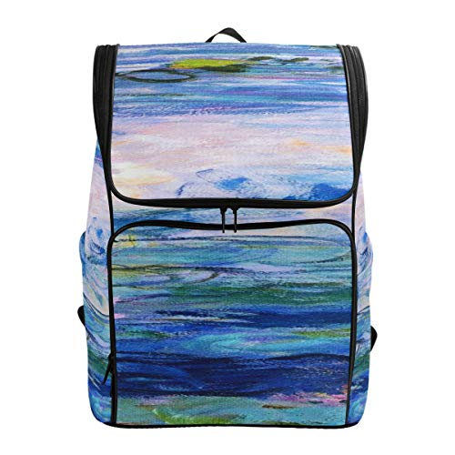 Monet Claude Water Lilies Oil Painting Hiking Sleeping Bag Carry On Travel Bag Hiking Shoulder Bag Woman Travel Bagfits 15.6 Inch Laptop And Notebook Best Hiking Bag