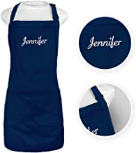 Trendy Apparel Shop Number #1 Grandma Embroidered Full Length Apron with Pockets