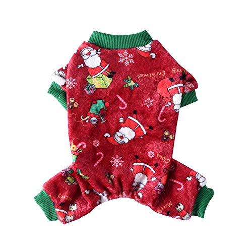 Feel-ling Ropa para Mascotas de Navidad, cómodo, cálido, Lavable a máquina, Pijamas...
