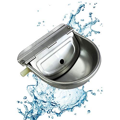 Bebedero automático de acero inoxidable 304 con válvula de flotador, balde de agua para animales de granja, ganado, animales de granja, suministros para ovejas, perros, caballos, vacas, cabras