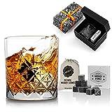 Hediyesepeti Set de Regalo de Whisky de Londres para Padrinos de Boda. Vaso de Whisky y 12 Piezas de Whisky en Forma de Cubitos de Hielo en Caja de Regalo Premium. Caja Regalo Whisky Bourbon.