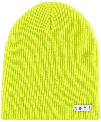 NEFF Daily Beanie Hat for Men and Women, Lime Punch, One Size