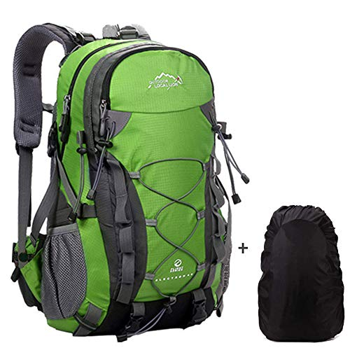 Meisohua Trekkingrucksack Wanderrucksack für Männer und Frauen Wasserdicht Rucksack Wandern Leichter Reiserucksack 40L, robuster Handgepäck Sportrucksack Outdoor Camping - Grün