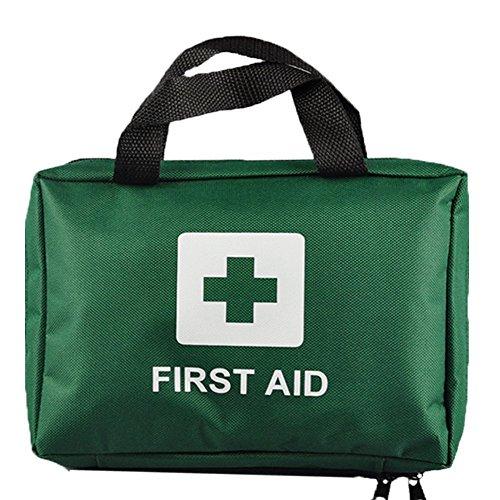 99-teilig Supreme Erste Hilfe Set Bag Inkl. Augenspülung, Krepp, Eisbeutel, Thermo Decke - Heim, Office, Fahrzeug, Arbeitsplatz, Reise, Zelten - Grün