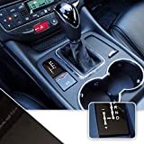 Optix Shifter Gear Position Indicator Vinyl Overlay Wrap Decal Compatible with Maserati Granturismo Quattroporte - Chrome Dark Black Grey