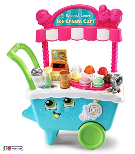 LeapFrog- Scoop & Learn Ice Cream Cart Toy, 600703, Coloris Assortis, 21.7 x 51.6 x 63.2 cm