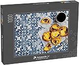 Puzzle 1000 Teile Eierkuchen, traditionelles portugiesisches Dessert, Pastell de NATA auf Pergamentpapier (1000, 200 oder 2000 Teile)