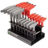 18 Pc SAE & Metric T-Handle Ball End Hex Key Set by...