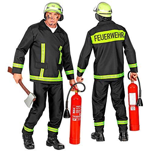 WIDMANN 08823 - Costume da pompiere, da uomo, taglia L, colore: Nero