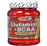 AMIX - Bcaa Glutamina - 530 Gramos - Complemento Alimenticio de Glutamina en Polvo - Reduce el Catabolismo Muscular - Óptimo para Deportistas - Sabor Lima Limón - Aminoácidos Ramificados