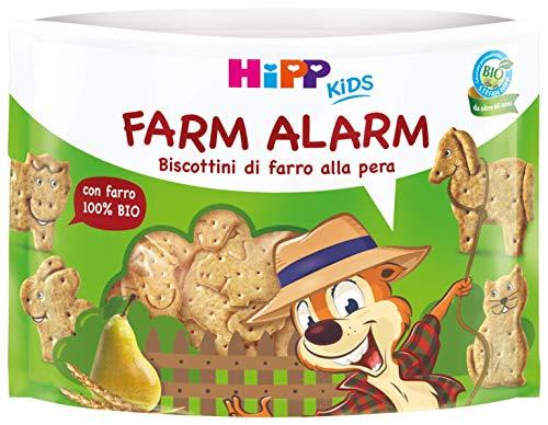 Hipp - Farm Alarm, Biscottini Di Farro Bio, Gusto Pera, 6 Confezioni da 45 G - 270 g