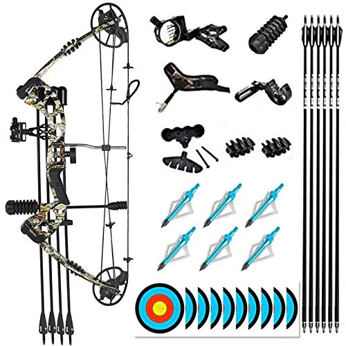 """evercatch Compound Hunting Target Bow Kit 