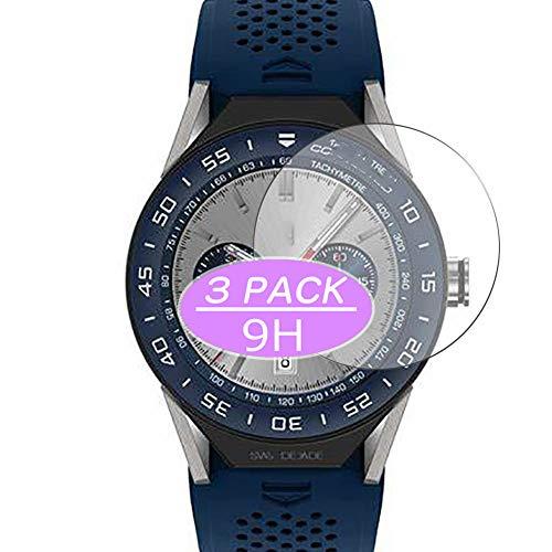 VacFun 3 Piezas Vidrio Templado Protector de Pantalla, compatible con Tag HEUER Connected 41mm, 9H Cristal Screen Protector Protectora Reloj Inteligente NEW Version