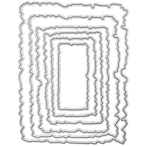 Plantilla De Metal De GeometrÍA 1 Pieza Scrapbook De Tarjetas De Papel Troqueles De Metal Dies Corte Para Scrapbooking ÁLbum Diy Troqueles De Corte Plantillas De Corte Tarjetas De Papel
