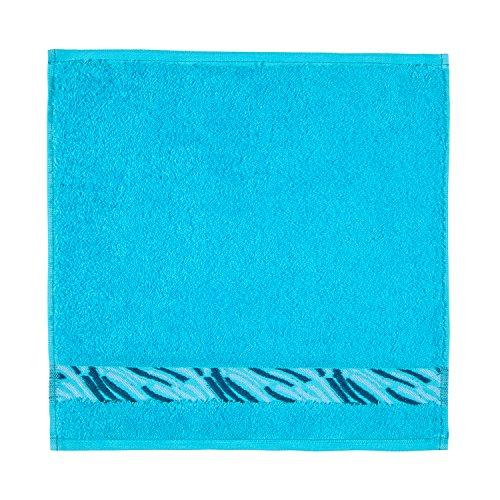 Frottana Shadow Essuie-Main 30 x 30 cm en 100% Coton, Turquoise