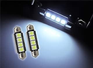 42mm Canbus LED Bulbs Pair White 6000k 576 578 211-2 212-2 214-2 Festoon