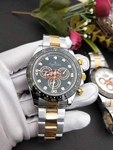 Luxury Men Watch Sapphire Rose Gold Black White Stainless Steel Automatic Mechanical Gents Daytona Style Watches AAA+ 1