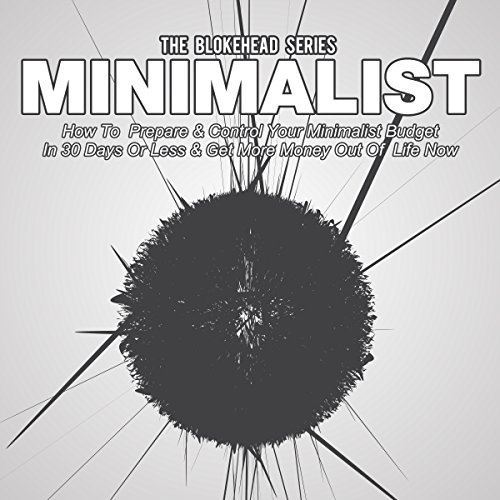 Minimalist audiobook cover art