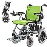 Szeao La Silla de Ruedas eléctrica más Fuerte Batería de Litio de Cuatro Motores Solo 14 Kg Ancianos discapacitados Scooter Plegable portátil Marco de Aluminio (A)