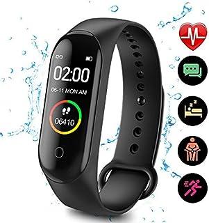 LVYIMAO monitor aktywności M4, inteligentny zegarek M4, opaska na nadgarstek ciśnienie krwi, pulsometr, krokomierz, sporto...