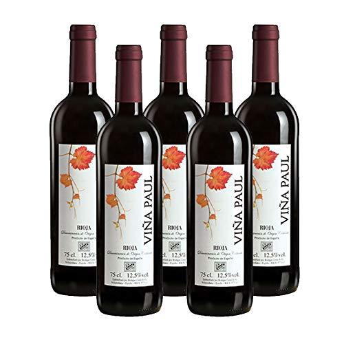 Vino Tinto Viñapaul Cosecha de 75 cl - D.O. Rioja - Bodegas Williams & Humbert (Pack de 5 botellas)