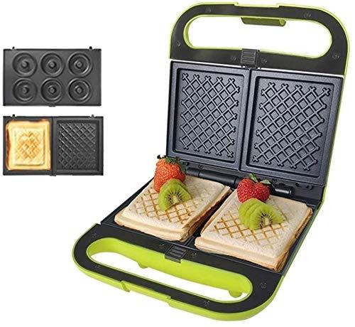 YFGQBCP Máquina de pan, fabricante de gofres de huevo, fabricante de waffle de sándwich, tostadora de panini eléctrico, máquina de fabricación de rosquillas, 700W doble tragamonedas de filete de sarté