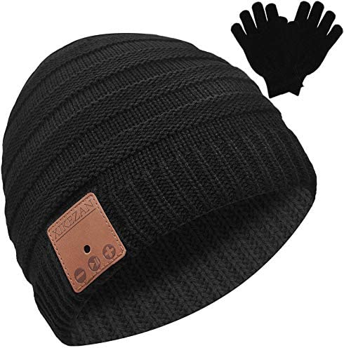 Bluetooth Beanie Novelty Headwear Christmas Stocking Stuffer Gifts for Men Women Black product image