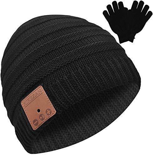 Bluetooth Beanie Novelty Headwear Christmas Stocking Stuffer Gifts for Men Women Black