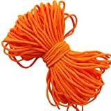Orange Neon Round Elastic String Cord Earloop Bands for Masks Making Supplies Sewing Craft Project Bracelet String Trim for Crafting Thin Soft & Stretchy 20YARD