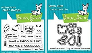 Lawn Fawn - Tiny Halloween Stamps Set and Dies Set - 2 Item Bundle