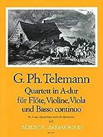 TELEMANN - Cuarteto en La Mayor (TWV:43/a4) (Partitura/Partes)