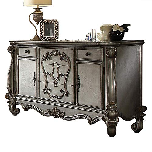 Read About Benjara Benzara Royal French Dresser with Drawers, Gray