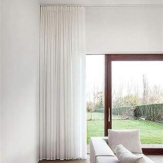 LiauZhou Waterproof Sheer Semi Voile Curtains for Patio Porch Door Pergola Cabana Gazebo Canopy Dock Privacy Shades Outdoo...