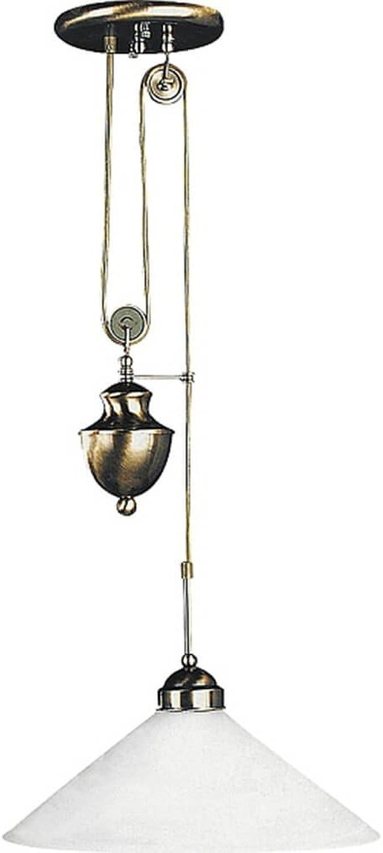 Pendelleuchte Marian Bronze wei E27 1x MAX 100W