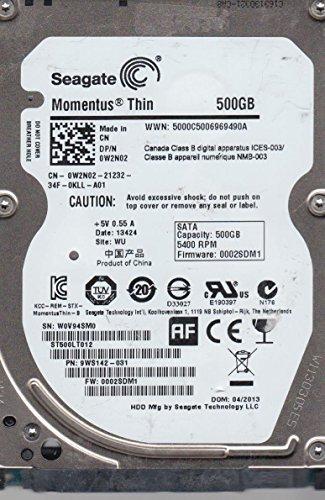 Seagate St500Lt012, W0V, Wu, Pn 9Ws142-031, Fw 0002Sdm1, 500GB Sata 2.5 Hard Drive