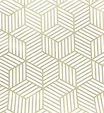 Rollo decorativo de vinilo con diseño de rayas doradas, color marrón, 45 cm por 250 cm