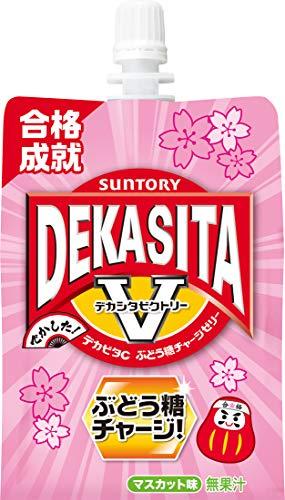 サントリー デカビタC ぶどう糖チャージゼリー270gパウチ×6本の画像