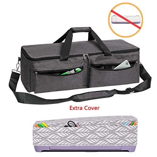 YELAIYEHAO Carrying Bag Compatible with Cricut Explore Air and Maker, Waterproof Tote Bag Compatible with Cricut Explore Air and Supplies (1+1, Gray)