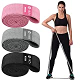 Te-Rich Long Resistance Bands, Fabric Pull Up Assistance Bands 3 Pack, Thick Cloth Stretch Bands for Exercise, Fitness Loop Band Set for Leg Thigh Hip Squat Booty Full Body Workout & Weight Training