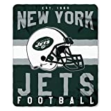 NFL New York Jets Singular Fleece Throw, 50-inch by 60-inch, Green