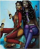DIYジグソーパズル1000ピース木製パズル色アフリカ女性エンターテインメントゲームギフト50X75Cm