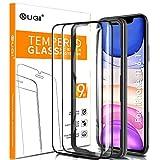 KuGi Panzerglasfolie Displayschutzfolie für iPhone 11, 9H Displayschutzfolie Passt für iPhone 11 / iPhone XR 6.1' Smartphone. Schwarz(2 Stück)