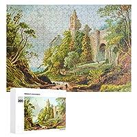 スコットランドの都市の絵画 300ピースのパズル木製パズル大人の贈り物子供の誕生日プレゼント