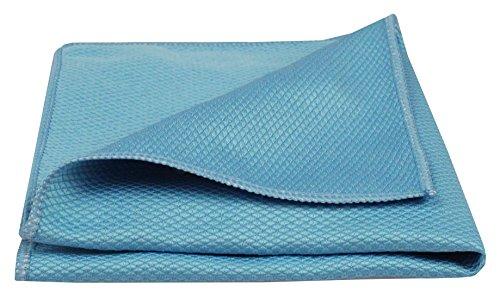 BELLANET Microfaser Koi 40x40cm Glastuch für Spiegel, Fenster, Glas, Auto & Bad 1 Stück (blau)