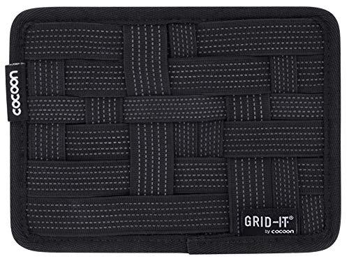 Cocoon GRID-IT XS - Taschen Organizer mit elastischen Bändern / Praktischer Organizer für Aktentasche, Handtasche, Koffer / Wand Organisationssystem mit Schlaufe & Mouse Pad / Schwarz - 17,8x1x12,7 cm