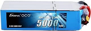 Gens ace 6S 5000mAh 45C 22.2V LiPo Battery Pack with EC5 Plug for Mikado LOGO500, Align T-REX 550 600E 700E GAUI X5 Outrage 550 Hirobo SDX Multirotors EDF Jets 600 700 Size Helicopters