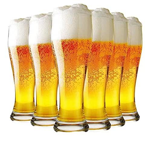Ecentaur Pilsner - Juego de 6 vasos de cerveza de pinta