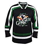 Guinness Toucan Black, Green and White Hockey Jersey, Large