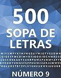 500 Sopa De Letras, Número 9: 500 Juegos, Para Adultos, Letra Grande
